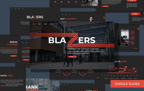 开拓者-多用途黑色Google幻灯片模板