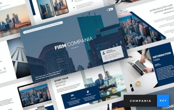 Compania-公司主题演讲模板Keynote模板下载