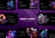 夜灯主题演讲暗色Keynote模板下载