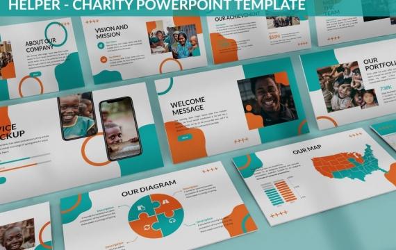 助手-慈善PowerPoint模板