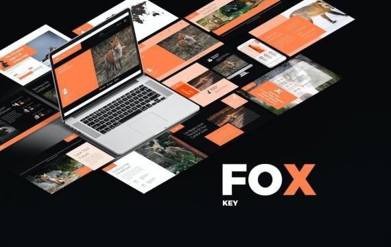 FOX主题演讲模板Keynote模板下载