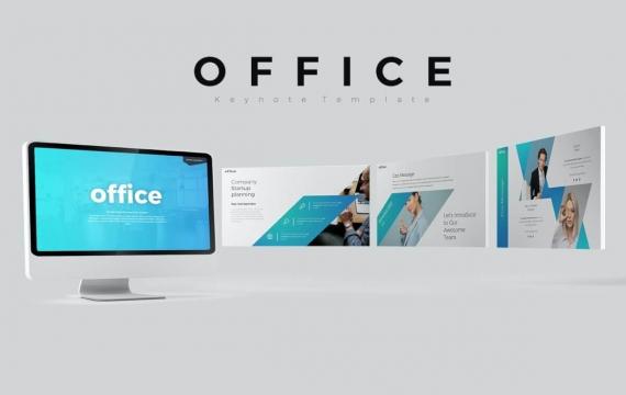 办公室主题模板Keynote模板下载