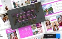 Helena-冰淇淋主题演讲模板Keynote模板下载