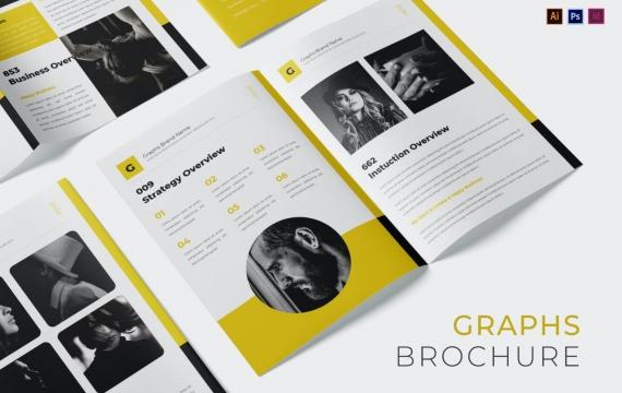 黄色品牌宣传手册