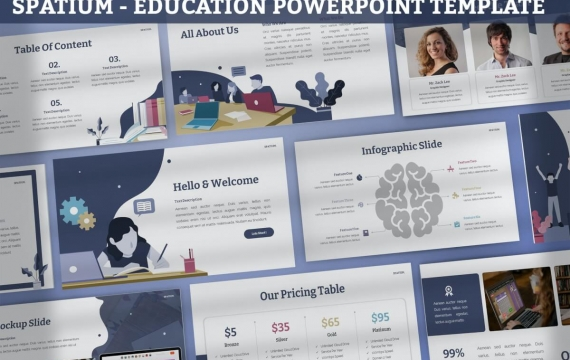 Spatium-教育PowerPoint模板