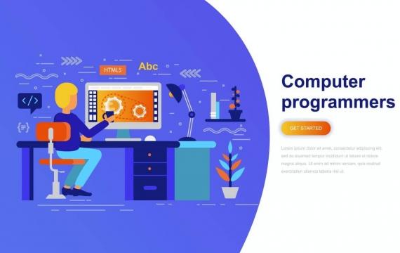计算机程序员现代平面概念