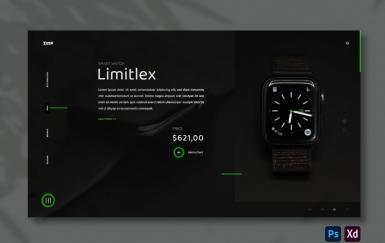 手表黑色高端网页设计模板