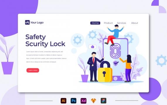 安全保障锁-着陆页banner插图