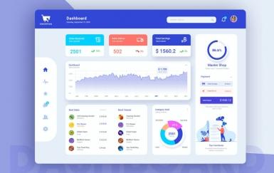 Shop Admin仪表板设计UI套件模板