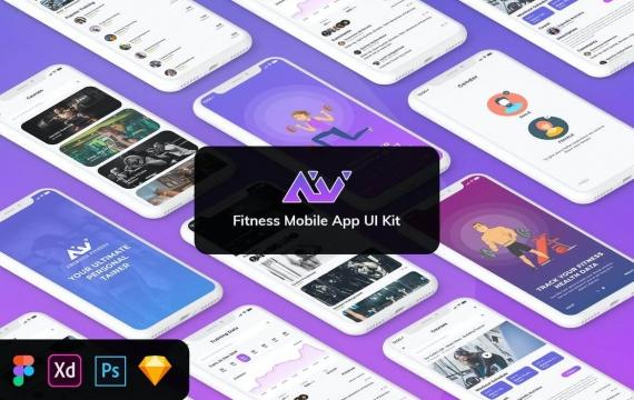 AmeriVex-Fitness MobileApp模板UI套件