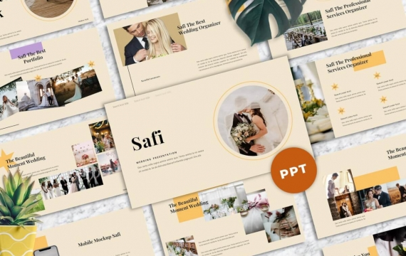 Safi-婚礼PowerPoint模板