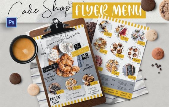 蛋糕店海报传单设计素材