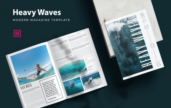 Heavy Waves Magz-杂志模板