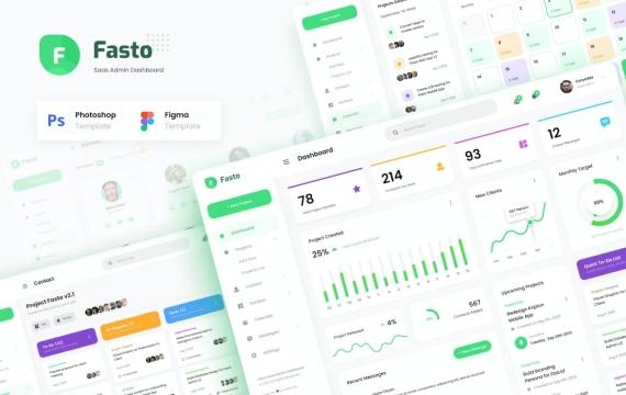 Fasto-Saas管理员仪表板UI设计模板
