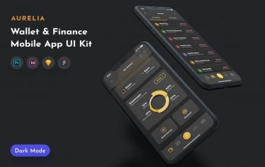 Aurelia钱包UI套件金融app设计模板