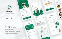 咖啡店iOS应用程序设计UI模板