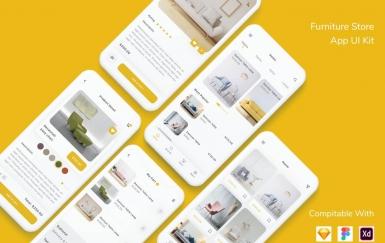 家具店App UI套件设计模板