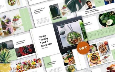 Sauda-食品和饮料PowerPoint模板
