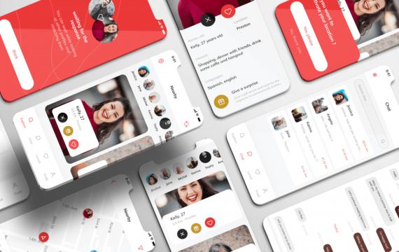 爱茉莉UI套件-约会应用app设计模板