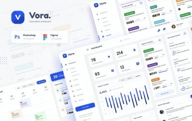 Vora-Saas Admin仪表板UI设计模板