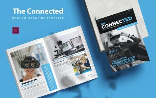 互联技术-杂志模板