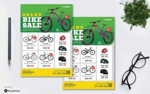 自行车产品销售海报传单设计模板
