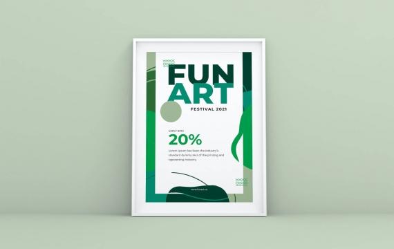 有趣的艺术传单海报设计模板