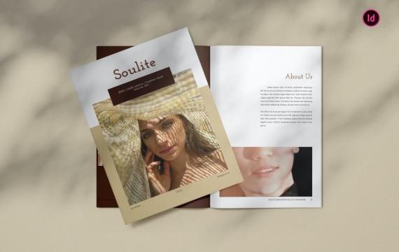Soulite时尚杂志模板
