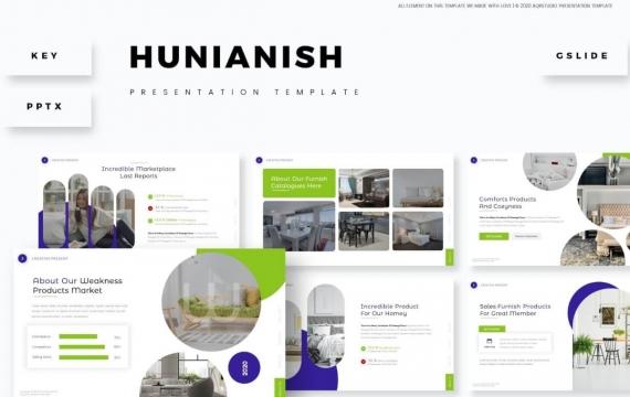 Hunianish演示PPT模板