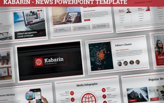 Kabarin-新闻PowerPoint模板