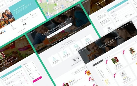 QuickFood PSD-外卖或外卖食品网页模板
