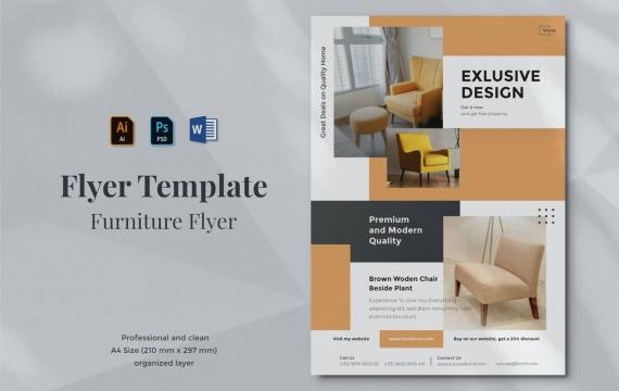 Vurnies-家具传单设计模板