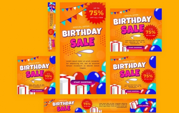 生日特卖-网页广告横幅