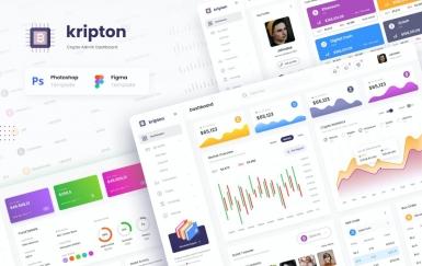 Kripton Admin-加密货币仪表板UI设计模板
