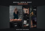 社交媒体Instagram故事设计模板