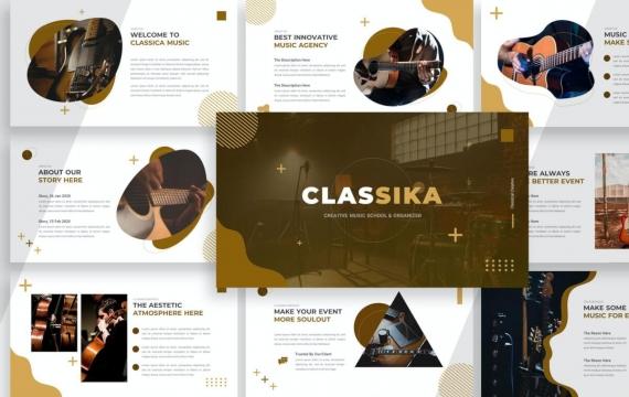 Classika音乐艺术PPT演示模板