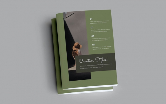 简洁创意宣传手册