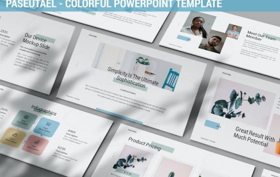 Paseutael-五颜六色的PowerPoint模板