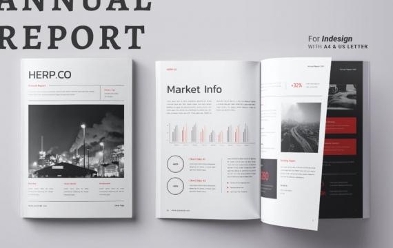 年度报告宣传手册模板
