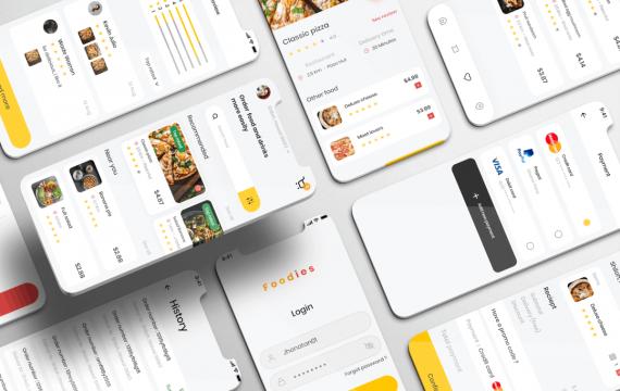 美食UI套件-美食交付应用app设计模板