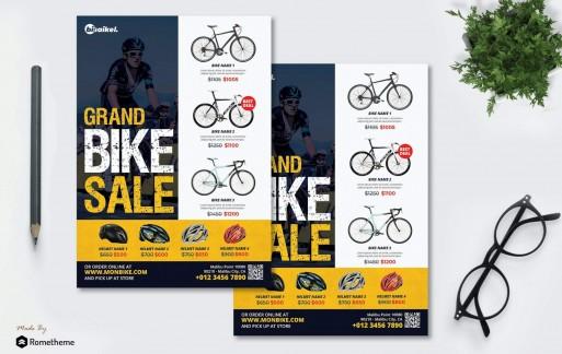 Bisaikel-自行车产品销售海报传单设计模板