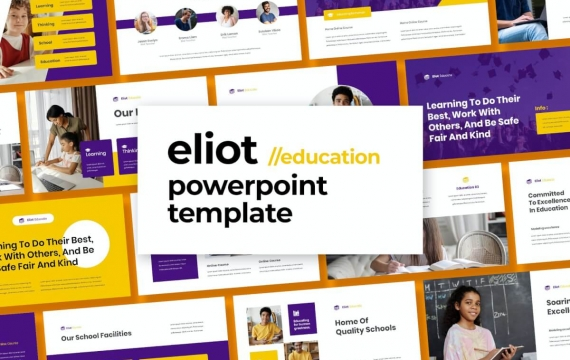 艾略特-教育Powerpoint模板