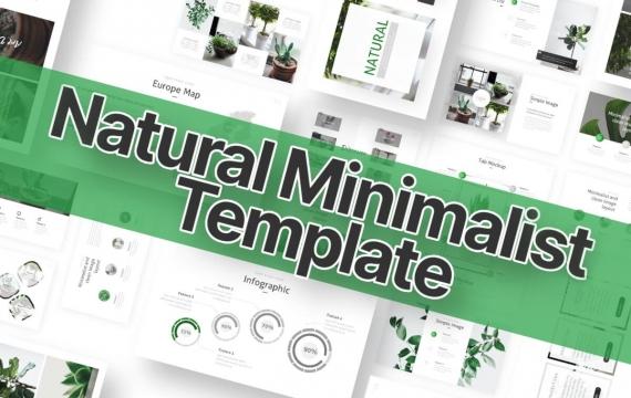 自然绿色PowerPoint模板