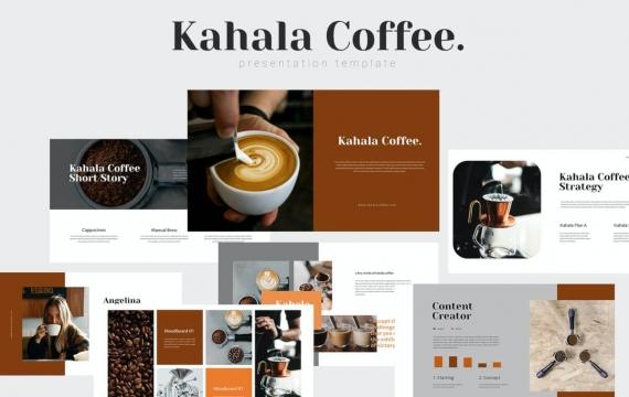 Kahala-咖啡PowerPoint模板