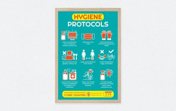 卫生海报插图设计模板