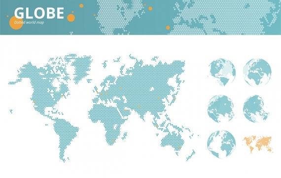 商业点缀的矢量世界地图