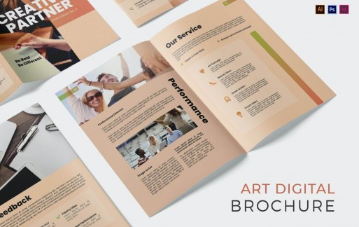 Art Digital Company宣传册模板