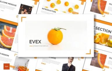 Evex-橙色PowerPoint模板