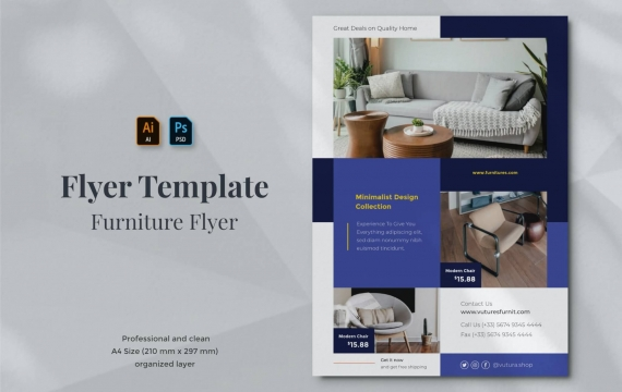 Vurnies-家具传单海报设计模板