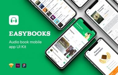 Easybooks-有声书UI套件听书app设计模板